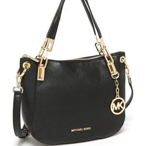 Michael Kors | Brooke Pebbled Blk Leather Satchel